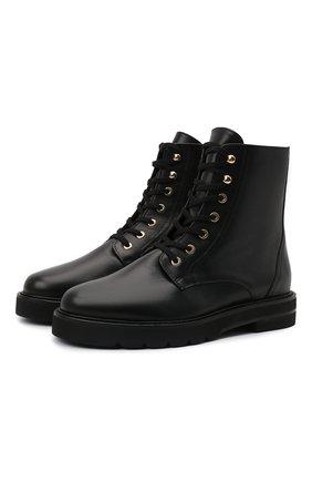 Женские кожаные ботинки mila STUART WEITZMAN черного цвета, арт. S0409 | Фото 1