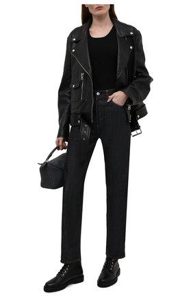 Женские кожаные ботинки mila STUART WEITZMAN черного цвета, арт. S0409 | Фото 2