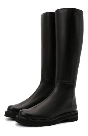 Женские кожаные сапоги mila lift STUART WEITZMAN черного цвета, арт. S5602 | Фото 1