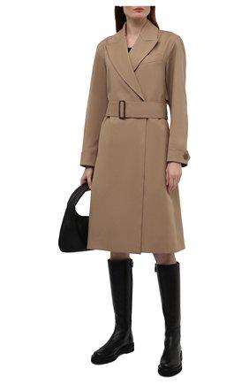Женские кожаные сапоги mila lift STUART WEITZMAN черного цвета, арт. S5602 | Фото 2