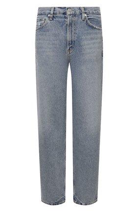 Женские джинсы CITIZENS OF HUMANITY голубого цвета, арт. 1911B-1254 | Фото 1 (Материал внешний: Хлопок; Длина (брюки, джинсы): Стандартные; Стили: Кэжуэл; Кросс-КТ: Деним; Силуэт Ж (брюки и джинсы): Прямые)