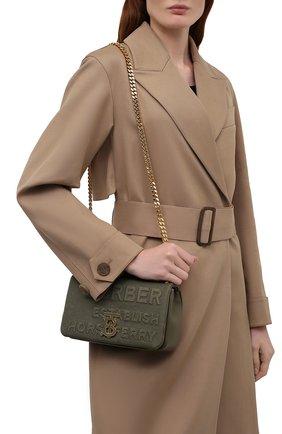 Женская сумка lola small BURBERRY хаки цвета, арт. 8041796 | Фото 2 (Размер: small; Материал: Текстиль; Ремень/цепочка: На ремешке; Сумки-технические: Сумки через плечо)