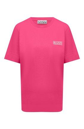 Женская футболка GANNI фуксия цвета, арт. T2917   Фото 1