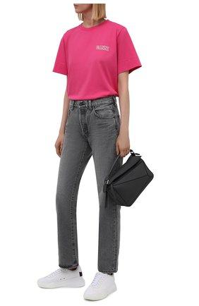 Женская футболка GANNI фуксия цвета, арт. T2917   Фото 2