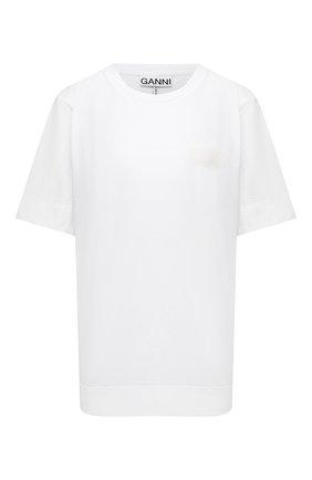 Женская футболка GANNI белого цвета, арт. T2917   Фото 1