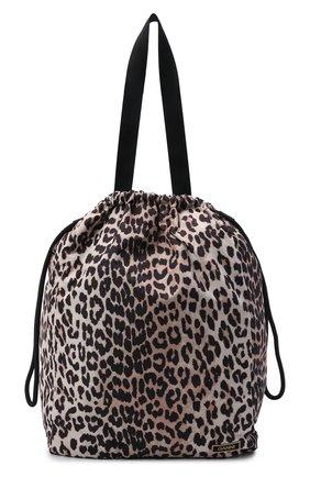 Женская сумка GANNI леопардового цвета, арт. A3432   Фото 1