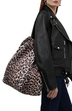 Женская сумка GANNI леопардового цвета, арт. A3432   Фото 2