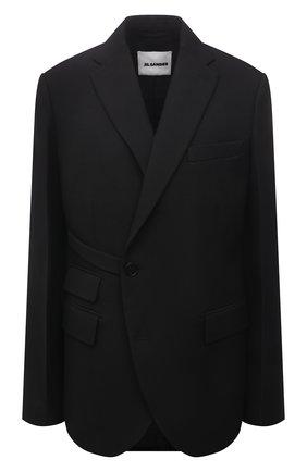 Женский шерстяной жакет JIL SANDER черного цвета, арт. JSPT130110-WT210603   Фото 1