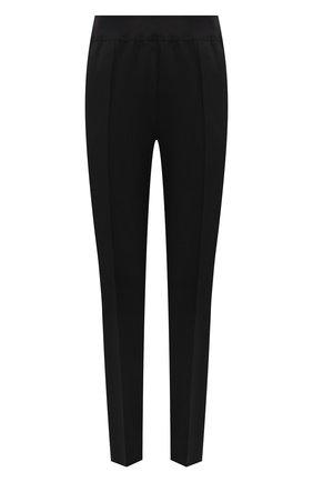 Женские шерстяные брюки JIL SANDER черного цвета, арт. JSPT310000-WT202500 | Фото 1 (Длина (брюки, джинсы): Стандартные; Материал внешний: Шерсть; Стили: Минимализм; Женское Кросс-КТ: Брюки-одежда; Силуэт Ж (брюки и джинсы): Узкие)