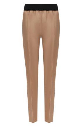 Женские шерстяные брюки JIL SANDER бежевого цвета, арт. JSPT310000-WT202500 | Фото 1 (Длина (брюки, джинсы): Стандартные; Материал внешний: Шерсть; Стили: Минимализм; Женское Кросс-КТ: Брюки-одежда; Силуэт Ж (брюки и джинсы): Узкие)