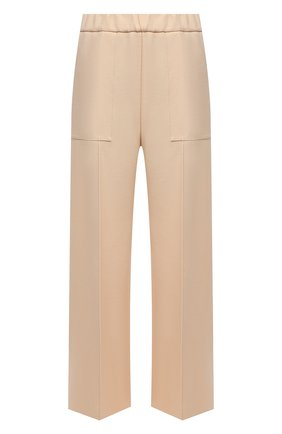 Женские шерстяные брюки JIL SANDER светло-бежевого цвета, арт. JSPT311203-WT201100 | Фото 1 (Длина (брюки, джинсы): Стандартные; Материал внешний: Шерсть; Стили: Минимализм; Женское Кросс-КТ: Брюки-одежда; Силуэт Ж (брюки и джинсы): Широкие)