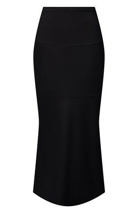 Женская шерстяная юбка JIL SANDER темно-синего цвета, арт. JSPT720009-WT207908A | Фото 1 (Материал внешний: Шерсть; Длина Ж (юбки, платья, шорты): Миди; Стили: Минимализм; Женское Кросс-КТ: Юбка-одежда)