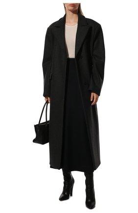 Женская шерстяная юбка JIL SANDER темно-синего цвета, арт. JSPT720009-WT207908A | Фото 2 (Материал внешний: Шерсть; Длина Ж (юбки, платья, шорты): Миди; Стили: Минимализм; Женское Кросс-КТ: Юбка-одежда)