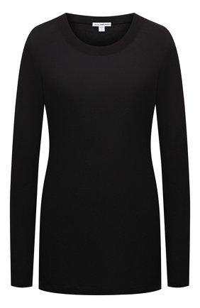 Женская хлопковый лонгслив JAMES PERSE черного цвета, арт. WKJ3637 | Фото 1
