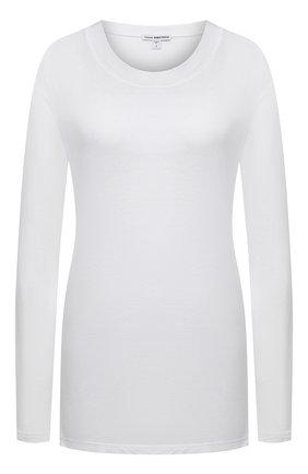 Женская хлопковый лонгслив JAMES PERSE белого цвета, арт. WKJ3637 | Фото 1