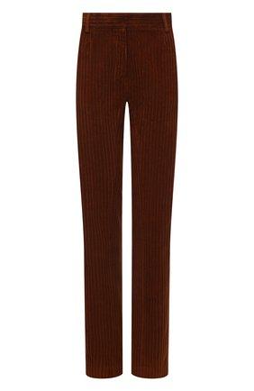 Женские вельветовые брюки GOLDEN GOOSE DELUXE BRAND коричневого цвета, арт. GWP00914.P000537 | Фото 1