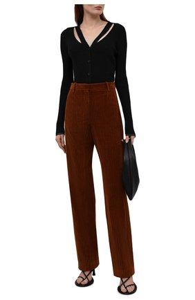 Женские вельветовые брюки GOLDEN GOOSE DELUXE BRAND коричневого цвета, арт. GWP00914.P000537 | Фото 2