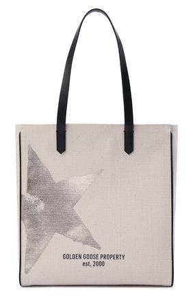 Женский сумка-шопер GOLDEN GOOSE DELUXE BRAND кремвого цвета, арт. GWA00172.A000310 | Фото 1