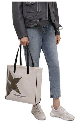Женский сумка-шопер GOLDEN GOOSE DELUXE BRAND кремвого цвета, арт. GWA00172.A000310 | Фото 2