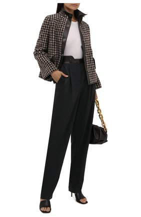 Женская шерстяная куртка GIORGIO ARMANI коричневого цвета, арт. 1WHGG0NJ/T02N2   Фото 2