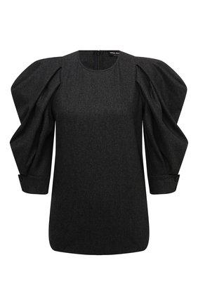 Женский шерстяной топ GIORGIO ARMANI темно-серого цвета, арт. 1WHCC01U/T016Z   Фото 1