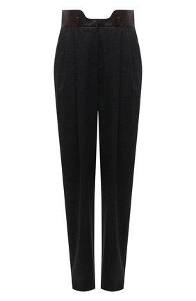 Женские шерстяные брюки GIORGIO ARMANI темно-серого цвета, арт. 1WHPP0IG/T016Z   Фото 1