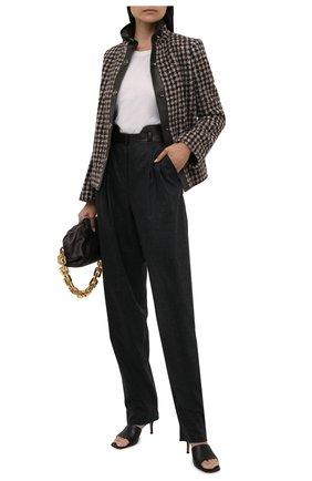 Женские шерстяные брюки GIORGIO ARMANI темно-серого цвета, арт. 1WHPP0IG/T016Z   Фото 2