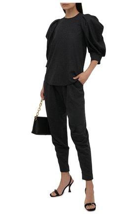 Женские шерстяные брюки GIORGIO ARMANI темно-серого цвета, арт. 1WHPP0IQ/T016Z   Фото 2