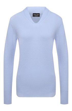Женский кашемировый пуловер GIORGIO ARMANI светло-голубого цвета, арт. 6KAM15/AM88Z   Фото 1
