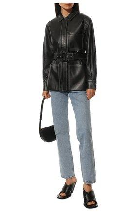 Женский кожаный жакет PROENZA SCHOULER WHITE LABEL черного цвета, арт. WL2131032-LR184 | Фото 2