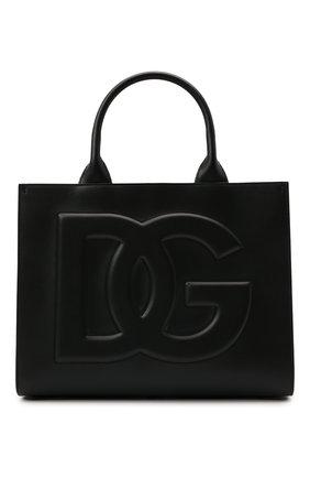 Женский сумка-тоут beatrice small DOLCE & GABBANA черного цвета, арт. BB7023/AQ269   Фото 1