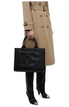 Женский сумка-тоут beatrice small DOLCE & GABBANA черного цвета, арт. BB7023/AQ269   Фото 2