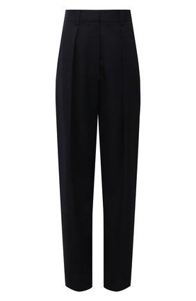 Женские шерстяные брюки VICTORIA BECKHAM темно-синего цвета, арт. 1521WTR002857A | Фото 1