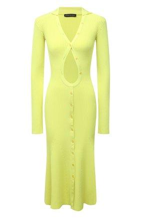 Женское платье из вискозы DAVID KOMA зеленого цвета, арт. PF21DKKN04D | Фото 1