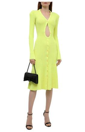 Женское платье из вискозы DAVID KOMA зеленого цвета, арт. PF21DKKN04D | Фото 2