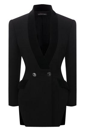 Женский шерстяной жакет DAVID KOMA черного цвета, арт. PF21DK16TJD | Фото 1