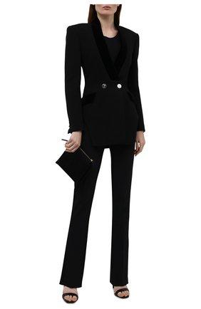 Женский шерстяной жакет DAVID KOMA черного цвета, арт. PF21DK16TJD | Фото 2