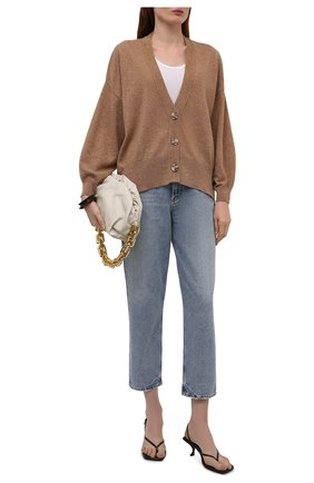 Женский кашемировый кардиган NOT SHY темно-бежевого цвета, арт. 3902012C   Фото 2