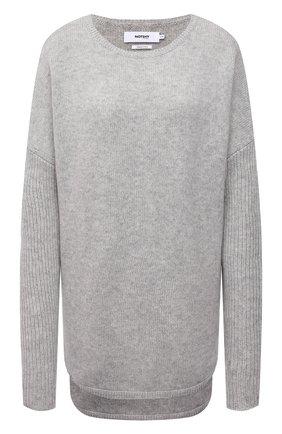 Женский кашемировый пуловер NOT SHY светло-серого цвета, арт. 3902051C   Фото 1