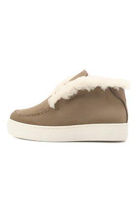 Детские кожаные ботинки MONTELPARE TRADITION коричневого цвета, арт. MT18216/M0RBID0NE/B0RDI CURLI/18-27 | Фото 2