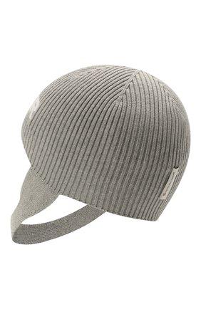 Детского хлопковая шапка MONCLER серого цвета, арт. G2-951-9Z714-00-V9217 | Фото 2