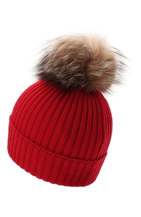 Детского шерстяная шапка MONCLER красного цвета, арт. G2-954-3B711-10-04S01 | Фото 2