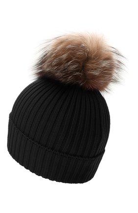 Детского шерстяная шапка MONCLER черного цвета, арт. G2-954-3B711-10-04S01 | Фото 2