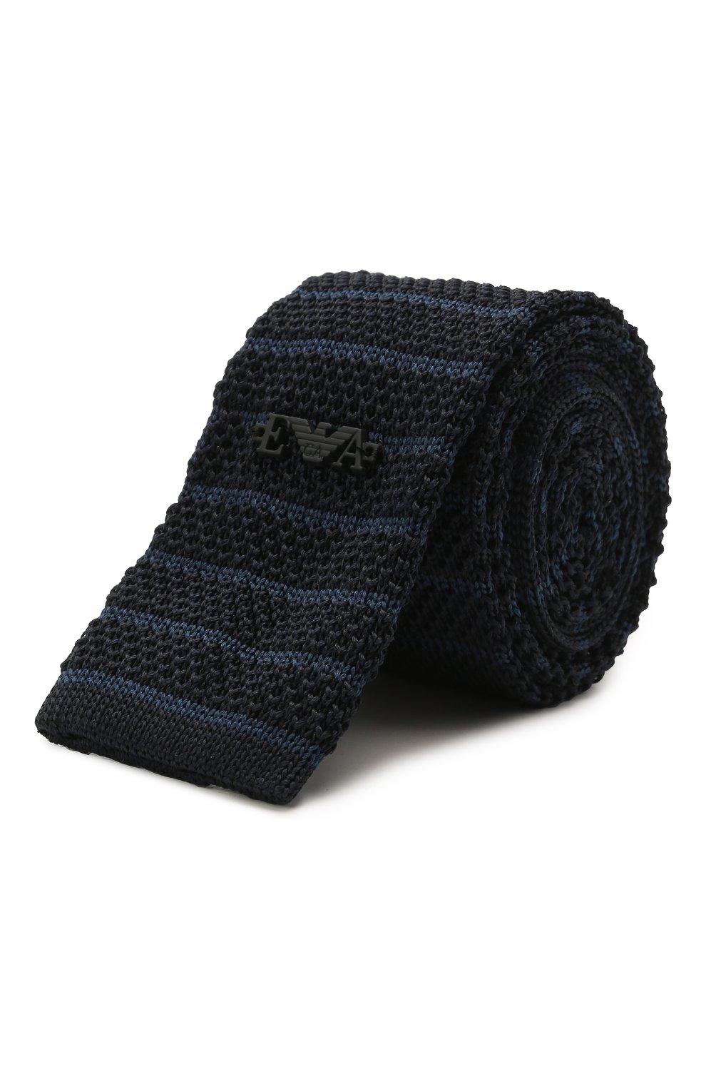 Детский шелковый галстук EMPORIO ARMANI синего цвета, арт. 409536/1A965 | Фото 1 (Материал: Текстиль, Шелк)