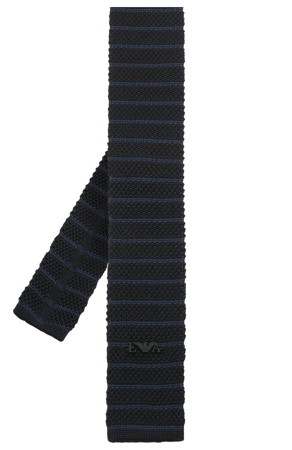 Детский шелковый галстук EMPORIO ARMANI синего цвета, арт. 409536/1A965 | Фото 2 (Материал: Текстиль, Шелк)