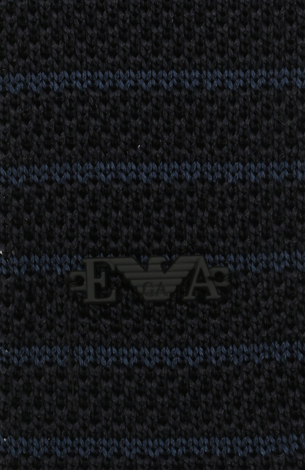 Детский шелковый галстук EMPORIO ARMANI синего цвета, арт. 409536/1A965 | Фото 3 (Материал: Текстиль, Шелк)