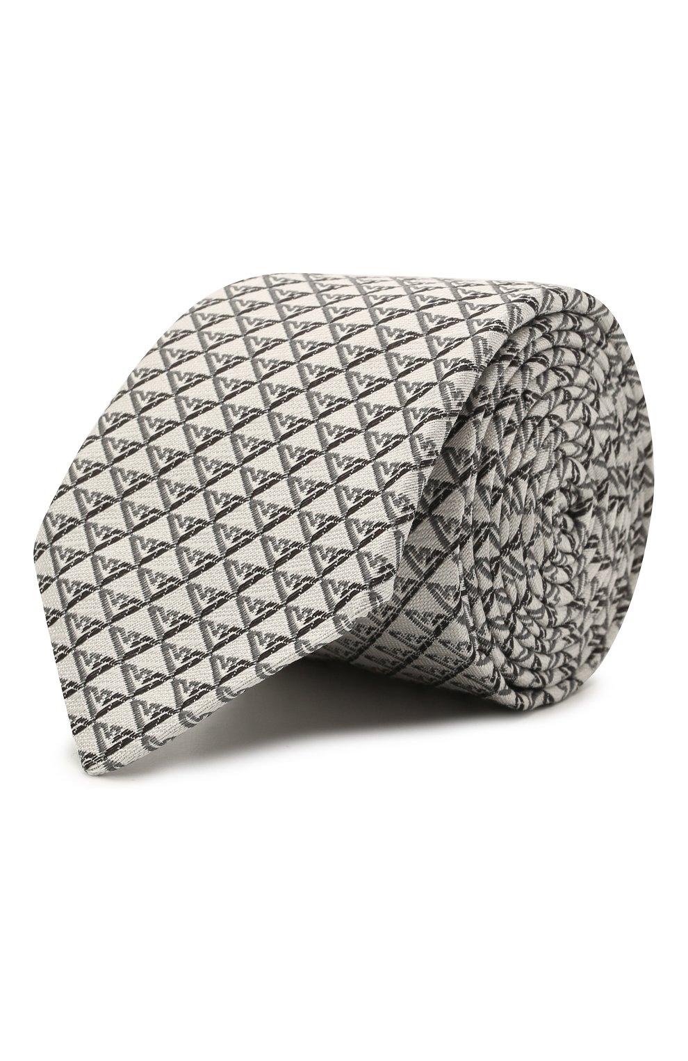 Детский шелковый галстук EMPORIO ARMANI серого цвета, арт. 409525/1A920   Фото 1 (Материал: Текстиль, Шелк)