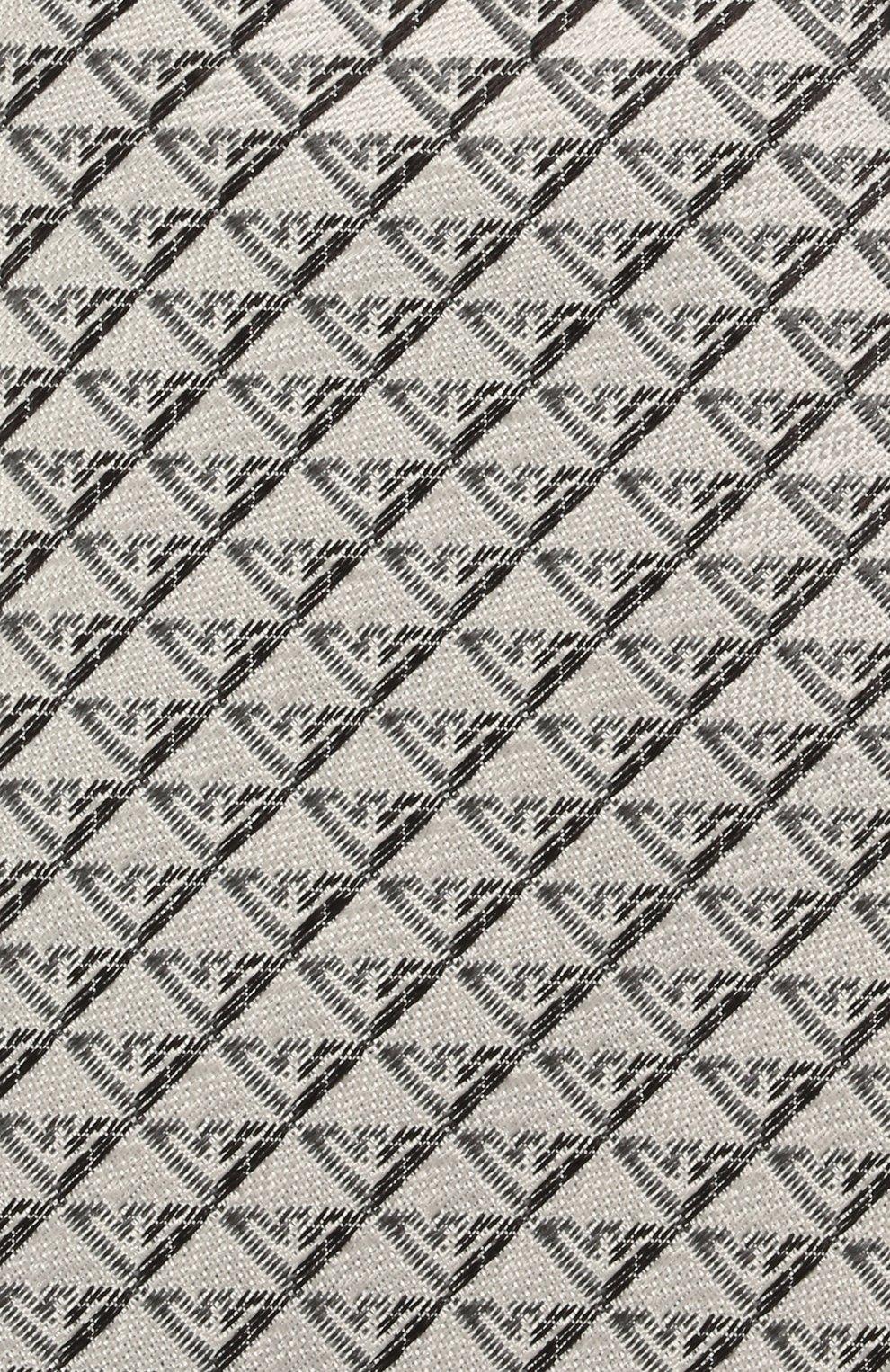 Детский шелковый галстук EMPORIO ARMANI серого цвета, арт. 409525/1A920   Фото 3 (Материал: Текстиль, Шелк)