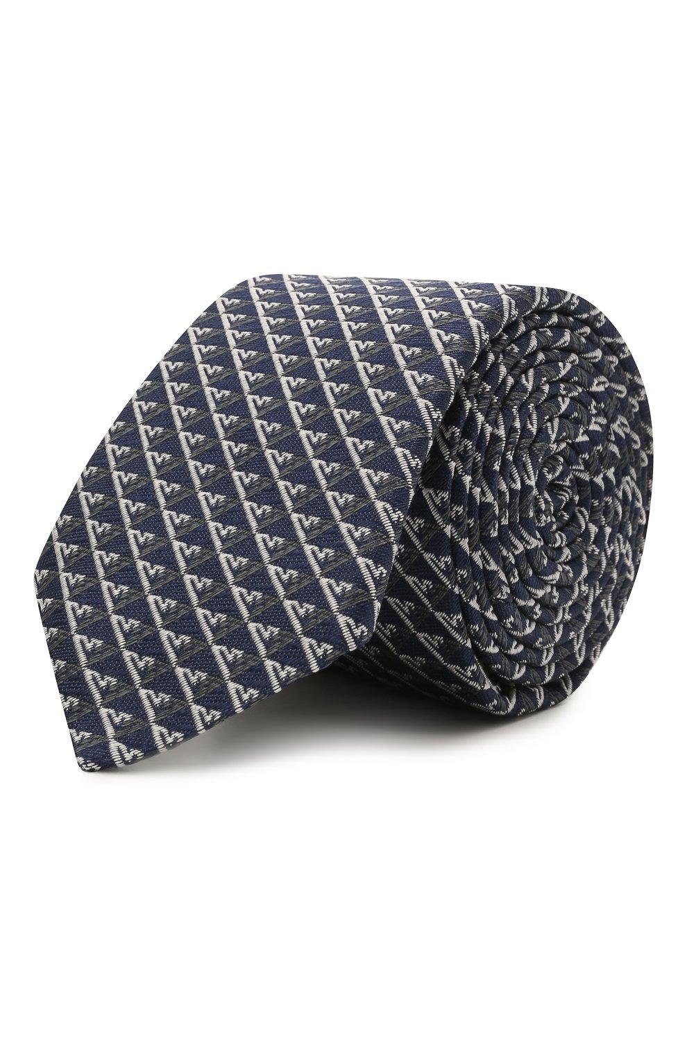Детский шелковый галстук EMPORIO ARMANI синего цвета, арт. 409525/1A920 | Фото 1 (Материал: Текстиль, Шелк)