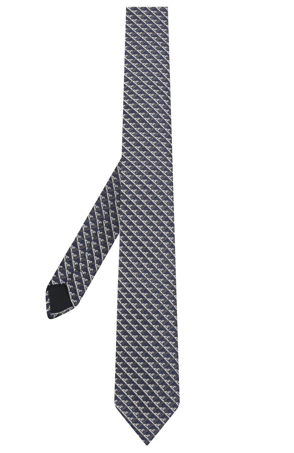 Детский шелковый галстук EMPORIO ARMANI синего цвета, арт. 409525/1A920 | Фото 2 (Материал: Текстиль, Шелк)